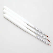 3Pcs French Acrylic Nail Art Salon Liner Painting Drawing Pen Brush Tool Set Kit For Beauty Decorations Chic Design(China)