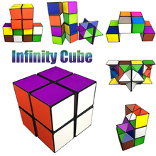 Mixcolors Infinity Magic Cube Deformable Cube Toys Fidget Toys Anti Stress Relief EDC Toys Imagination Create Newest Cube #E(China)
