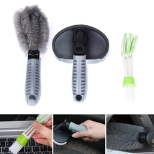 KWOKKER 3PCS Car Cleaning Brush Car Washer Brushes Car Air-condition Cleaner Computer Clean Tools Keyboard Dust Collector(China)