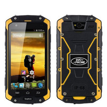 On Sale New Guophone V9 Waterproof Phone MTK6572 Dual Core 512MB RAM 4GB ROM Android 4.4 4000mAh WIFI GPS 3G WCDMA Rugged Phone(China)