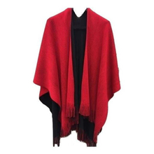 HOT Promotion New Fashion Pashmina Women Lady Cotton Cashmere Warm Wrap Shawl Cape Poncho Big Scarf Knit Tassel Wear Two Sided