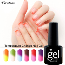 Verntion Temperature Changing Lucky Color Semi-permanent Nail Art Led Gel Varnish Art Nail Polish UV Gel Stencils Nails