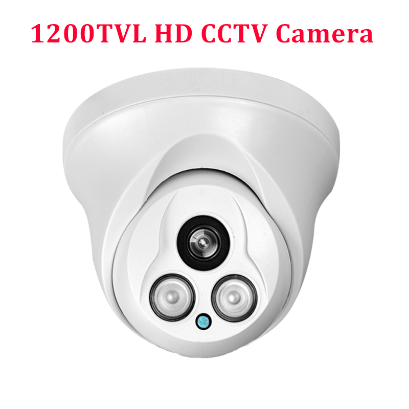 HD 1200TVL CMOS IR Camera Dome Infrared plastic indoor IR Dome CCTV Camera night vision IR CUT Analog Camera Security Video Cam<br>