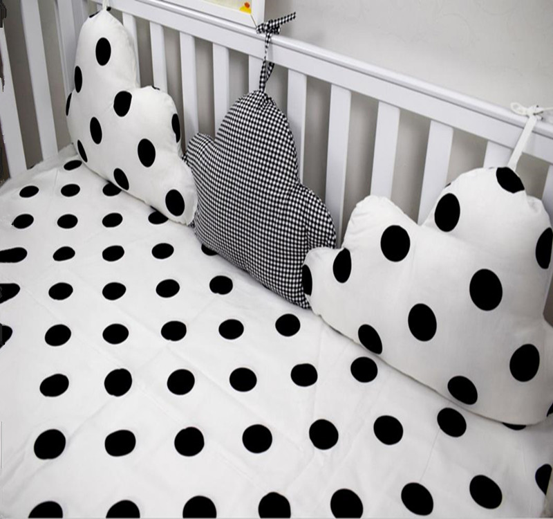 Cotton Baby Bed Bumpers Clouds Shape Two Color Collocation Baby Bumper Bed Around Anti-collision Decorative Boy Girl Bedding<br><br>Aliexpress