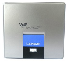 Free Shipping! Unlocked linksys voip gateway SPA3000 FXS FXO VoIP Phone Adapter with retail box(China)