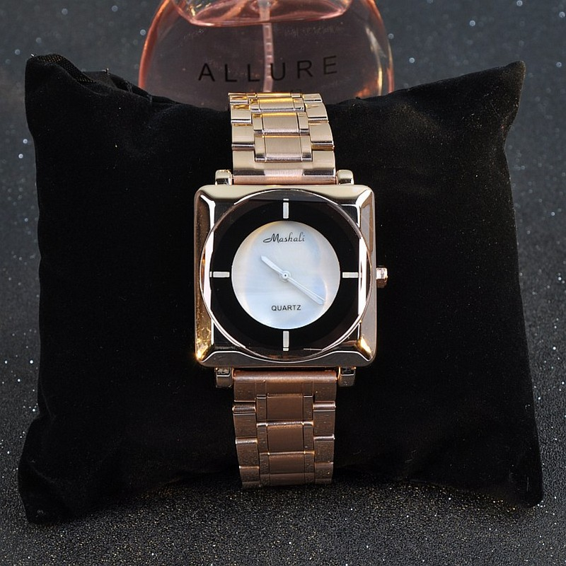 Top Quality New Square Dial Fashion Womens Watches Quartz Full Steel Casual Dress Clock Wristwatch For Ladies relojes mujer<br>