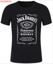 Buy OUGUBOSI Fashion Round Neck Letter Print Jack Daniels Fitness Cartoon Printed Men T Shirt for $4.46 in AliExpress store