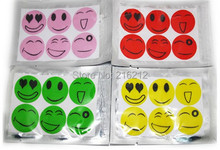 Smiling Face Best Mosquito Natural Repellent Patch Insect bug repellent sticker Camping(China)