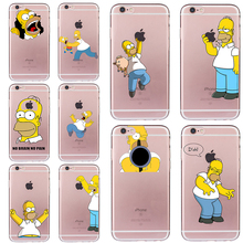 Homer Jay Simpson Case for iphone 5 5s SE 6 6s 7 8 plus Funny Cover Cheap Fundas Soft TPU Silicone Transparent Coque Ultra-thin(China)