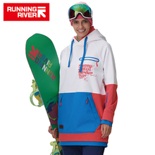 RUNNING RIVER Brand Women Snowboarding Hoodie 2017 High Quality Hooded Sports Snowboarding Jacket 5 Colors 3 Sizes #G6220(China)