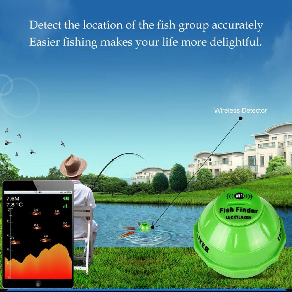Wifi Fishfinder echo sonar sounders locating fish sound underwater camera for fishing findfish deeper wireless echo sounder (8)