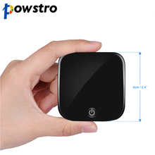 Powstro Audio Adapter Bluetooth 4.1 Receiver 3.5mm Wireless Bluetooth Transmitter Receiver Apt-x Stereo with TOSLINK/SPDIF AUX(China)
