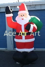 inflatable celebration decoration inflatable Santa Claus for sale with gifts