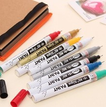 8 Colors 0.7mm Extra fine point paint marker non-toxic permanent marker  DIY art marker car tyre pen school and office supplies