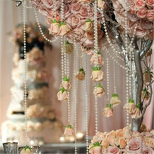 20Meters 4mm Pearl Spray Strands Garland Spool Bridal Beads String For Wedding Christmas Party Centerpiece Favor Crafting Decor(China)