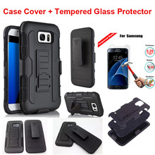 Armor Hybrid Shockproof Phone case Screen Protector For Samsung Galaxy S3 S4 S5 S6 S7 Edge Note2 3 4 Rubber Hard Plastic Cover(China)