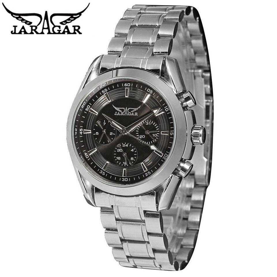 2017 JARAGAR Fashion Watch Mens Day/Date/24Hours Mechanical Auto Men Wristwatch Free Ship<br><br>Aliexpress