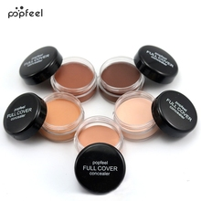 Popfeel Portable Round Full Cover Concealer Natural Makeup Concealers Facial Face BB Cream Foundation Contour Cosmetic Tools(China)