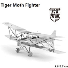High Quality NEW The Tiger Moth Fighter 3D DIY Laser cutting Three-dimensional puzzle metalic spacecraft jigsaw Plane Toys gifts