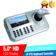 Hot product 5inch LCD IP PTZ Camera Keyboard Controller 3D Joystick Display Screnn Network PTZ Keyboard Controller