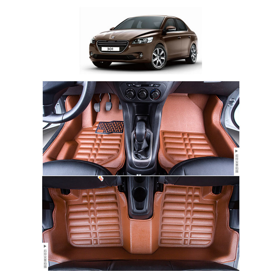 free shipping fiber leather car floor mat carpet rug for citroen c-elysee 2012 2013 2014 2015 2016 2017 2nd generation<br><br>Aliexpress