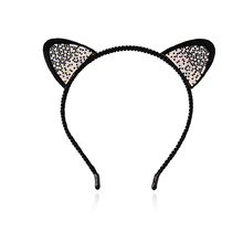 M MISM Girls Cat Ears Hairband Stylish Women Rhinestone Headband Sexy Hair Band Accessories Headwear Cartoon Hair Hoop