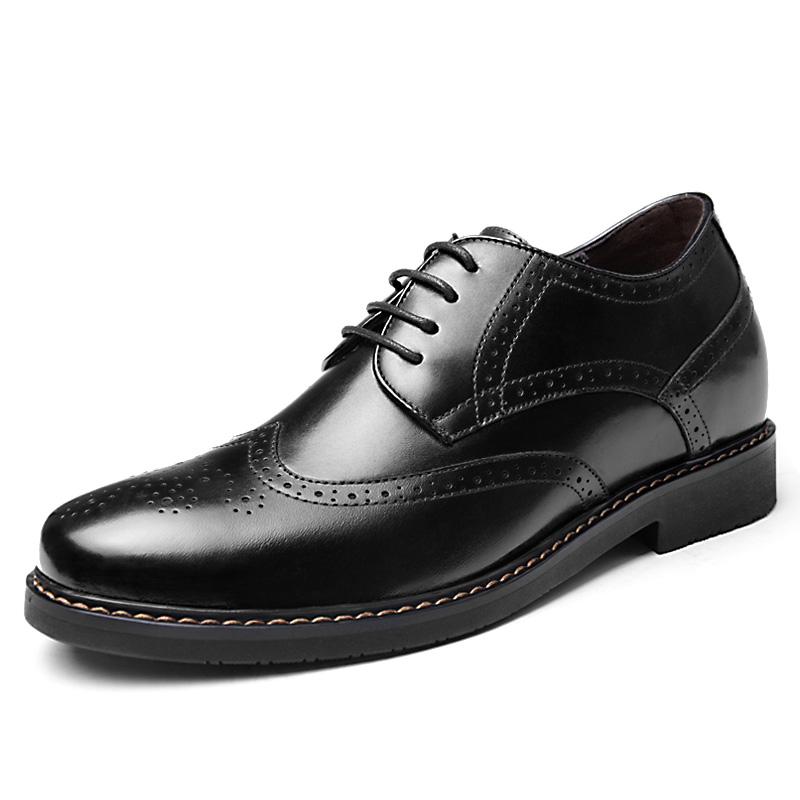2.36 Inches Taller-Genuine Leather Heightening Elevated Oxfords Business Dress Shoes<br><br>Aliexpress
