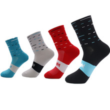 Cycling Socks Comfortable Breathable Men Sports Bikes Running Scoks Football Socks(China)
