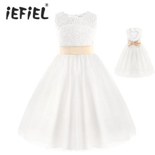 White First Communion Dresses For Girls 2017 Brand Tulle Lace Infant Toddler Pageant Flower Girl Dresses for Weddings and Party