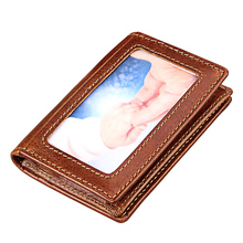 Buy Hot Selling! Classical Black Genuine Leather Men's Wallets Business Credit Card Holder Purse Cowhide RFID Card Wallet 2018 for $21.98 in AliExpress store