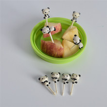 8pcs Cute Panda Fruit Fork Kitchen Goods Mini Bento Accessories Lunches Toothpick Snack Cake Dining Forks Party Decor Fourchette