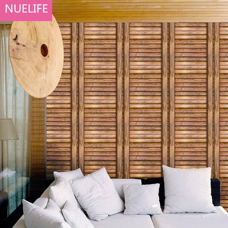 0.45x10 Meter wood pattern self - adhesive wallpaper living room bedroom kids room wardrobe furniture creative DIY wallpaper<br>