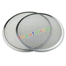 New Aluminum Flat Mesh Pizza Screen Round Baking Tray Net Kitchen Tool 6inch -8inch(China)