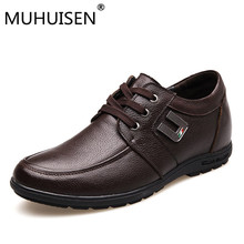 Buy MUHUISEN Men Height Increasing Shoes Man Elevator Shoes Increa 5cm Height Mens Casual Business Shoes Genuine Leather Shoe for $26.88 in AliExpress store