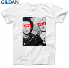 Tee Shirt Sites Men'S Short Sleeve Graphic O-Neck Graphic Sid & Nancy Punksid Vicious Pistols Tees(China)