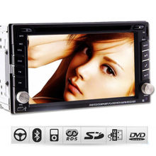 "6.2"" Double 2 Din Car GPS Navigation Stereo DVD Player Digital Touch Screen TV Bluetooth iPod Radio Video MP3+Free Latest SD Map(China)"