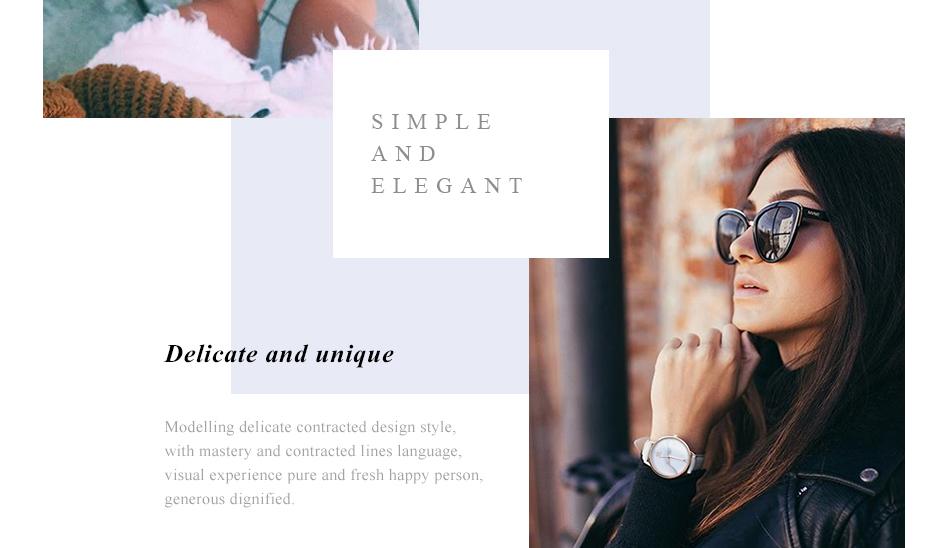 ساعة نسائية حزام جلد أنثى كوارتز الوان جميلة 4