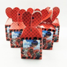 6pcs/set Hot Sell New Miraculous Ladybug Candy Case Box Kids Favor Birthday Party Gift Boxes Wedding Boxes Party Supplies(China)
