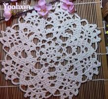 HOT Cotton placemat cup coaster mug holder kitchen handmade table place mat cloth lace round Crochet Christmas doily drink pad