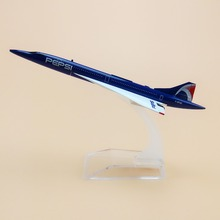 15.5cm Metal Air France Costa Concordia PEPSI F-BTSD Airways Airlines Plane Model Airplane Model w Stand Aircraft(China)