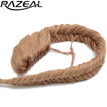 "Razeal Women Natural  Long Curly Synthetic Braided Ponytail Hair Pieces Blonde Black Brown 20"" 50 Cm 120g"