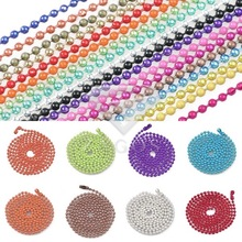 "70cm/28"" Iron 1.5x1.5mm Ball Beads Chain Necklace Pendant Craft DIY Jewellery Making Wholesale 18 Color Choose CH0139(China)"