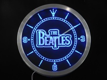 nc0144 The Beatles Band Bar Beer Neon Sign LED Wall Clock(China)