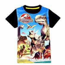 Jurassic World dinosaur children boys t shirt summer baby kids boys tops tee t shirts for children boys clothes garments 3-9T(China)