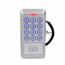 Waterproof Metal Access Control System Proximity 13.56MHZ IC Card Reader with Backlight Keypad Reader WG26 F1681D