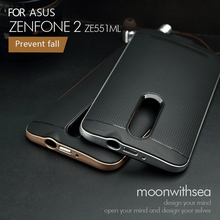 "Case For Asus Zenfone 2 ZE551ML ZE550ML (5.5"") amazing 2 in 1 design high quality PC+TPU material luxury mobile phone back cover(China)"