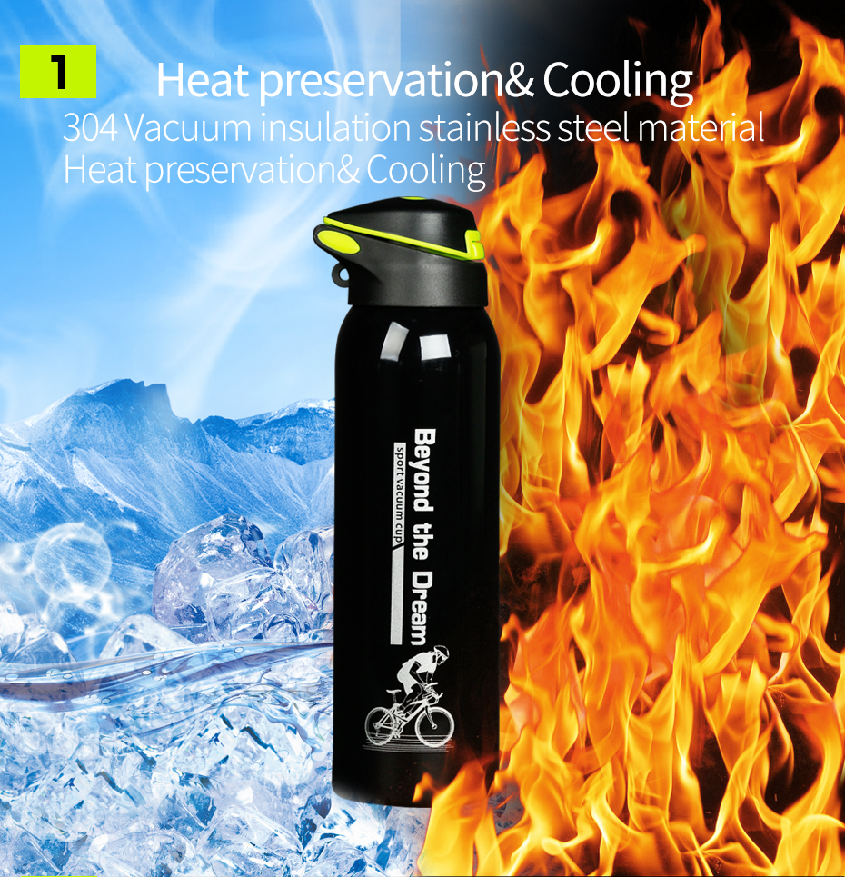 Cateye Cycling Bottle Bike Water Bottle Without Insulation 500ml Two Colors New