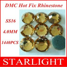 Fast Delivery,FREE SHIPPING,DMC hot fix rhinestone,Lt. col. Topaz Color SS16,China post air mail free,1440pcs/lot star15(China)
