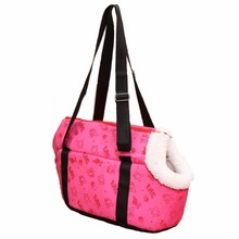 Pink with cute Bunny printed soft comfort travel bag Shoulder Handbag Carrier for small dogs cats carrier bags outdoor portable(China)