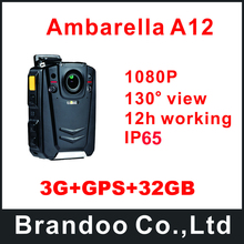 3G+GPS+32GB Profession Police Body Worn Camera For Police Used